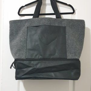 DSW Felt Tote Bag with Shoe Compartment